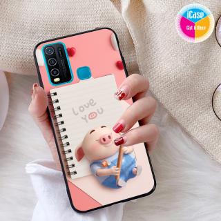 Ốp lưng iCase dành cho Vivo Y30 viền dẻo TPU BST Pig Cute thumbnail