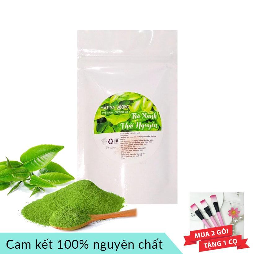 Bột trà xanh Thái Nguyên nguyên chất 100g