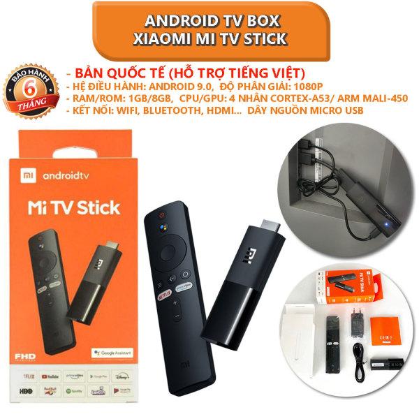 Bảng giá [Bản quốc tế] Android TV Box Xiaomi Mi TV Stick tìm kiếm bằng giọng nói, hỗ trợ tiếng việt - Bảo hành 6 tháng