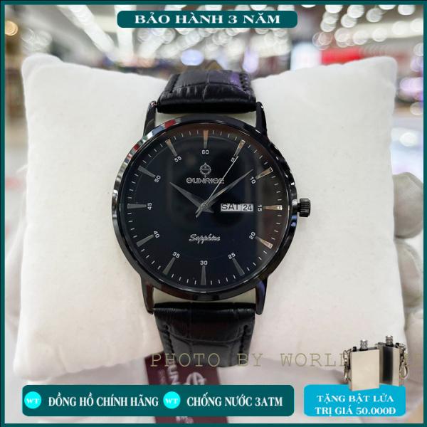 Đồng hồ chính hãng , Đồng hồ nam dây da Sunrise DM1216SWA  Full Hộp , Thẻ BH Hãng 3 Năm , Kính Sapphire chống xước , chống nước , kèm quà tặng zippo