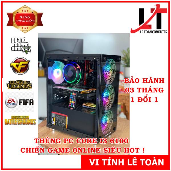Bảng giá THÙNG PC CORE I3 6100 CHIẾN GAME ONLINE HOT (GTA V, FIFA 04, PUGB, LOL...) Phong Vũ