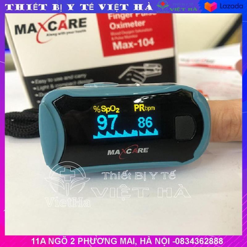 Máy đo nồng độ oxy trong máu Spo2 và nhịp tim Maxcare Max104 bán chạy