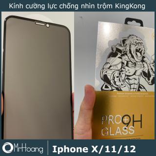Combo 2 Kính cường lực Chống nhìn trộm KingKong cao cấp full màn Ip X, XS, XR, Xs Max, 11, 11 Pro 11Pro MAX, 12, 12 Pro, 12 ProMax thumbnail