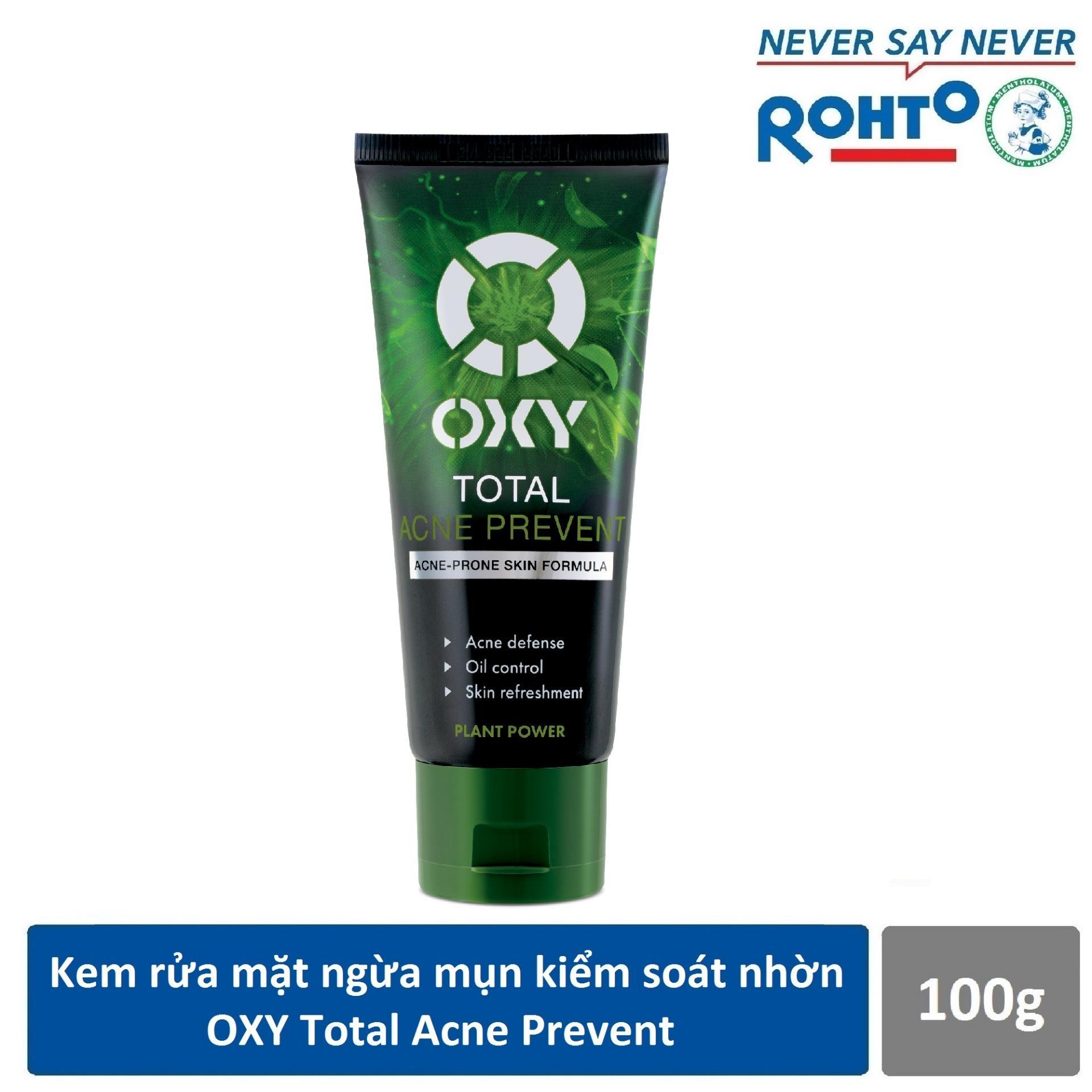 Kem rửa mặt ngừa mụn kiểm soát nhờn OXY Total Acne Prevent 100g cao cấp