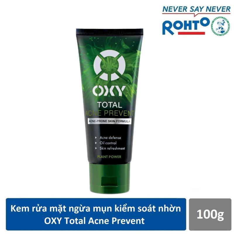 Kem rửa mặt ngừa mụn kiểm soát nhờn OXY Total Acne Prevent 100g