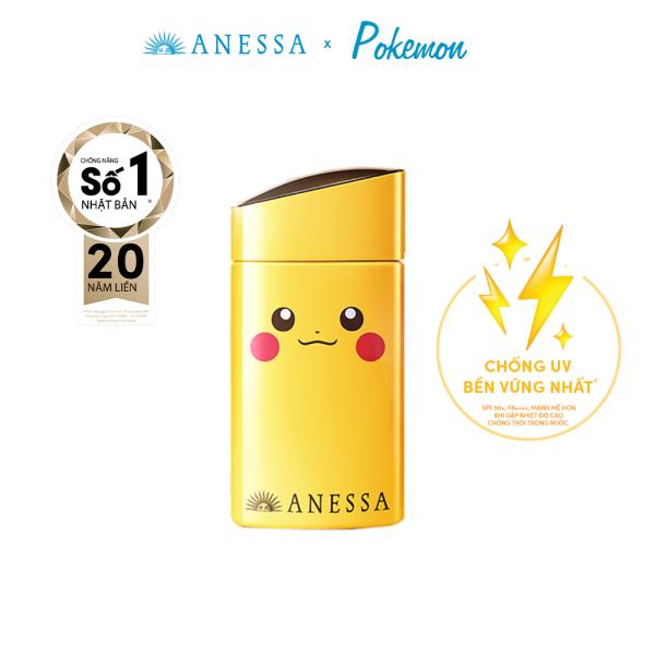 [PHIÊN BẢN ĐỘC QUYỀN POKEMON] Kem chống nắng dạng sữa dưỡng da bảo vệ hoàn hảo Anessa Pokemon Perfect UV Skincare Milk SPF 50+ PA++++ 60ml