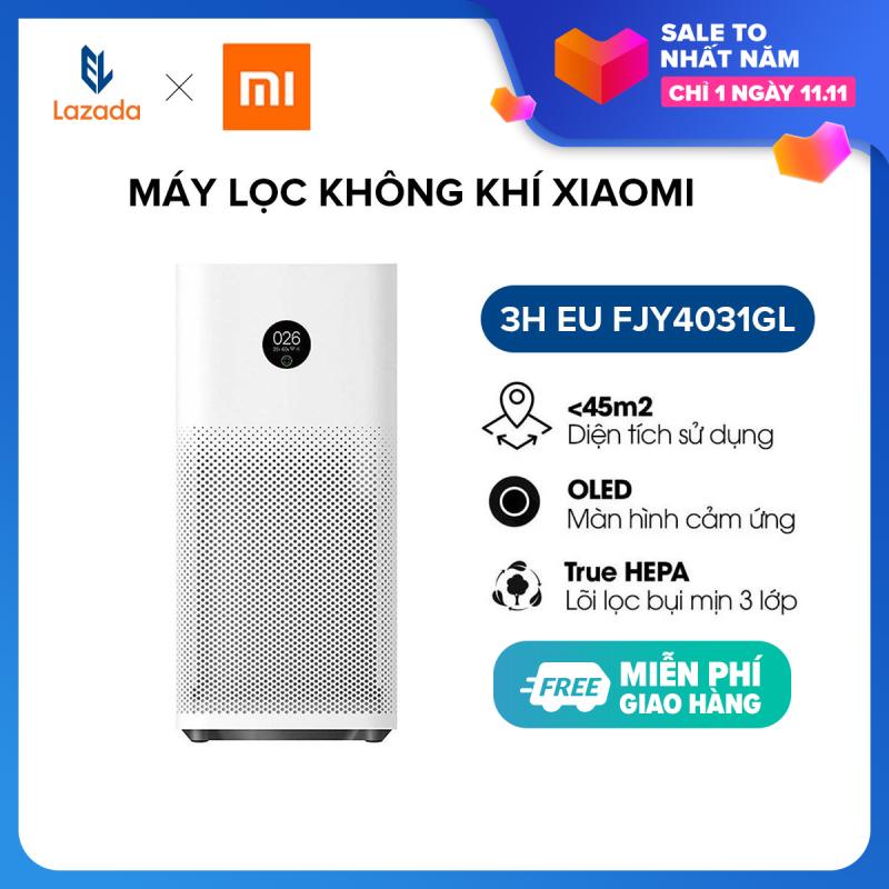 Máy Lọc Không Khí Xiaomi 3H EU FJY4031GL - Hàng Phân Phối Chính Hãng - Trang bị lõi lọc chuẩn HEPA - loại bỏ 99,97% các loại bụi có kích thước 0.3 nano