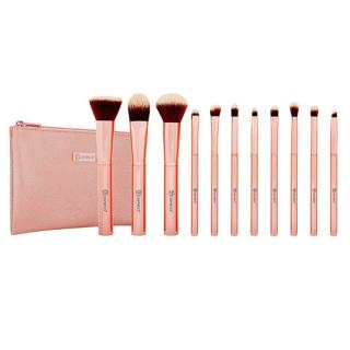 Bộ Cọ Trang Điểm BH COSMETICS 11 Cây Metal Rose 11 Piece Brush Set With Cosmetic Bag thumbnail