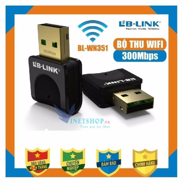 Giá Bộ Thu Sóng Wifi LB-Link BL-WN351 300Mbps Phiên Bản Nâng Cấp Của Thiết bị USB Thu Wifi LB-LINK BL-WN151 Nano Nhỏ Gọn (Đen), Usb Thu Wifi, Thu Wifi Laptop Bảo Hành 24 Tháng