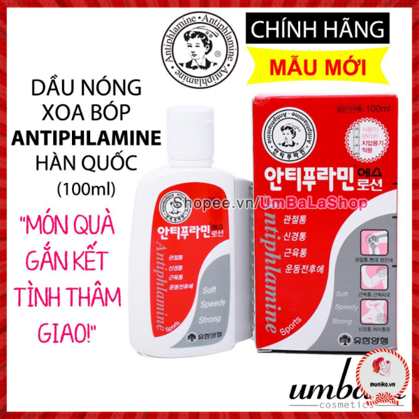 (Date 06.2023) Dầu nóng Hàn Quốc Antiphlamine (100ml)