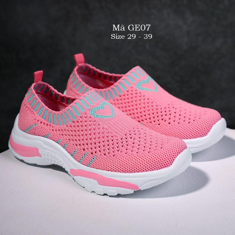 Giá bán Giày len cho bé gái 4 - 15 tuổi cổ chun thể thao và cá tính GE07