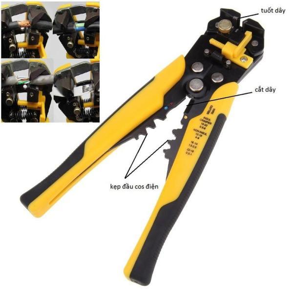 Kìm tuốt dây điện, dây cáp, bấm cos đa năng 0.2 - 6mm, Kiềm bấm dây điện, Kiềm tuốt dây điện đa năng, Kiềm bấm côt mạng
