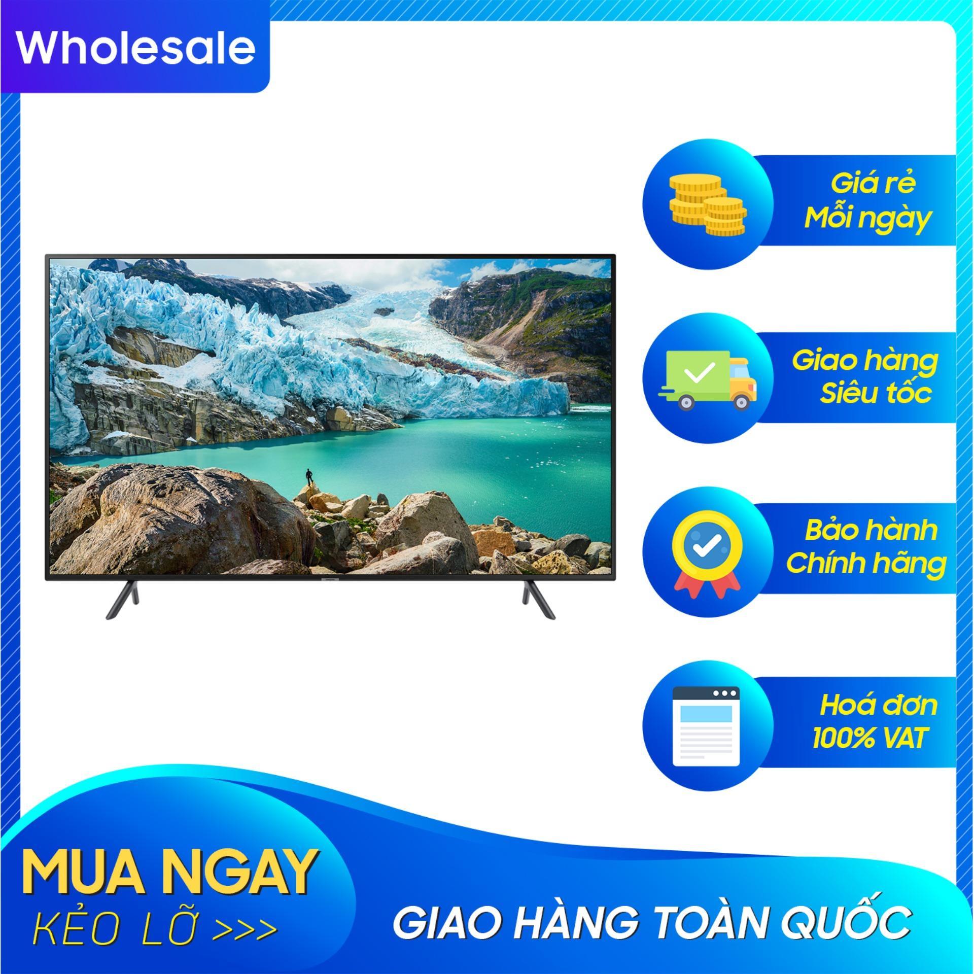 Bảng giá Smart TV Samsung 4K UHD 58 inch - Model UA58RU7100 (2019) - Công nghệ hình ảnh HDR, UHD Dimming, Purcolour + Điều khiển tivi bằng điện thoại
