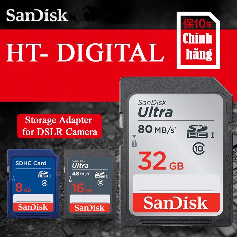 Thẻ Nhớ Máy ảnh SDXC Sandisk Ultra 32GB 80MB/s Cho Canon Nikon Fujifilm Sony Samsung Có Giá Rất Cạnh Tranh