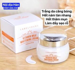 Kem dưỡng trắng da mờ thâm nám tàn nhang Vitamin Milk Whitening nội địa Hàn Quốc 55g thumbnail