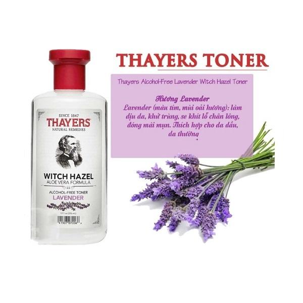 Nước Hoa Hồng Không Chứa Cồn Thayers Alcohol Free Witch Hazel Toner Lavender giá rẻ