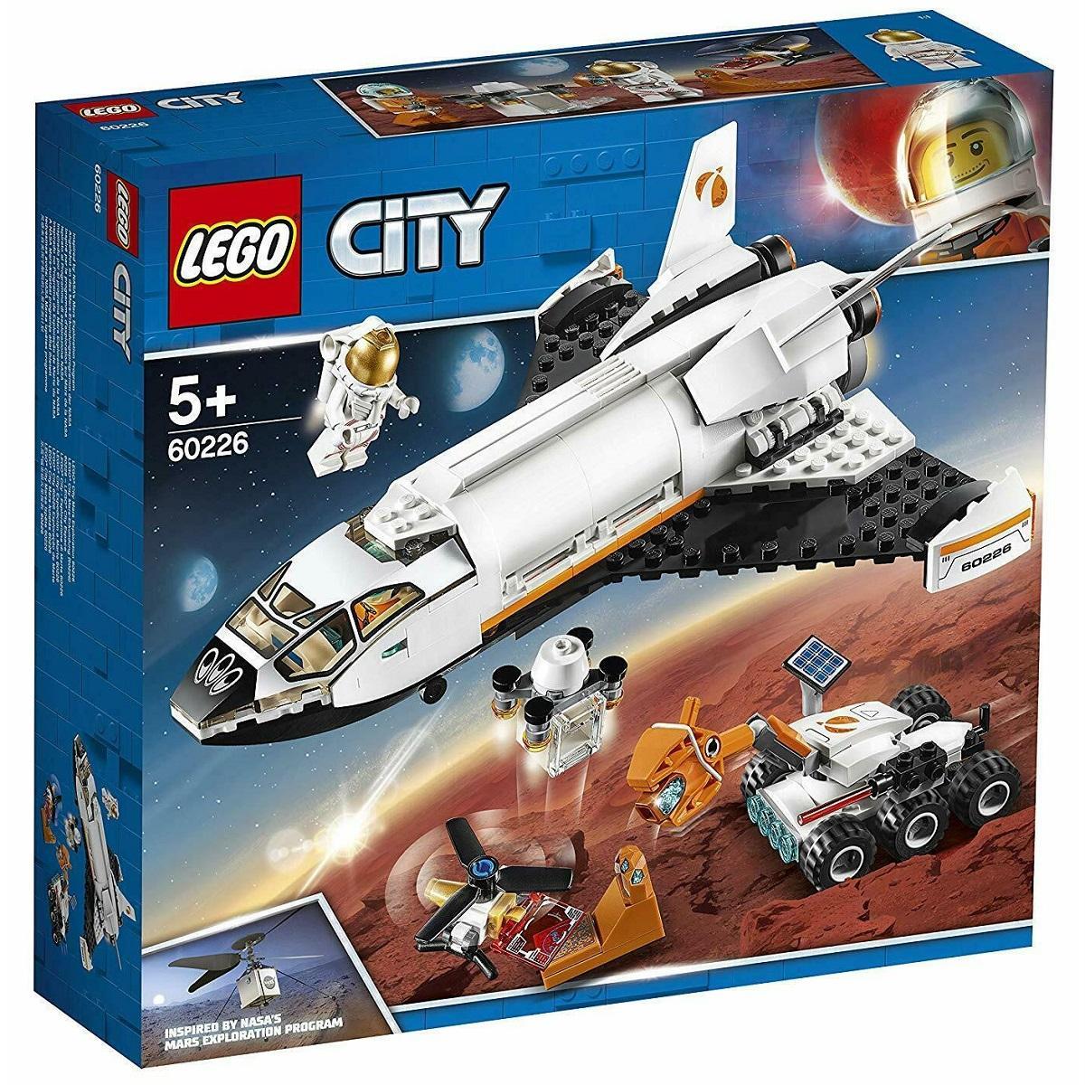 [Có Video] Bộ Lắp Ráp LEGO City 60226 Tàu Con Thoi Thám Hiểm Sao Hỏa 273 Chi Tiết Dành Cho Trẻ Từ 5 Tuổi Có Giá Ưu Đãi