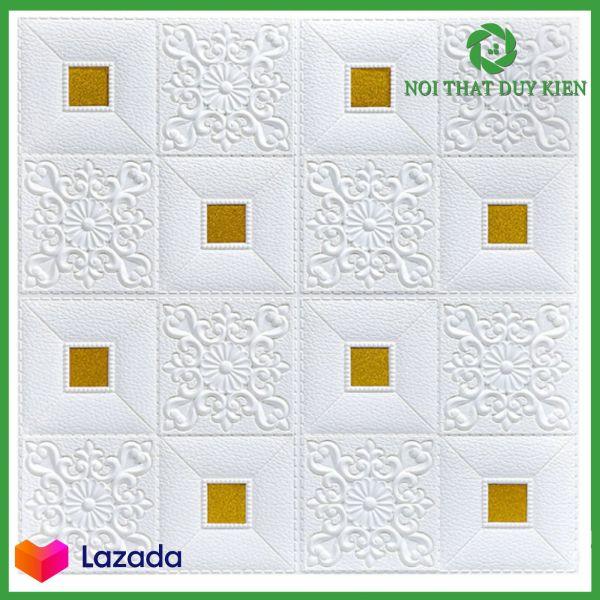 [ Sỉ Lẻ & Phân Phối ] Combo 10 tấm xốp dán tường trắng đính decal