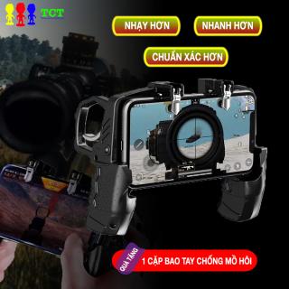 [QUÀ TẶNG] Tay cầm chơi game PUGB tích hợp nút bắn, hỗ trợ cắm sạc và tai nghe - QUÀ TẶNG 1 cặp găng tay chơi game, ngón tay chơi game, bao tay chơi game thumbnail