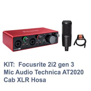 [Trả góp 0%]KIT thu âm Focusrite Scarlett 2i2 gen 3 Mic Audio-Technica At2020 Cab Hosa thumbnail
