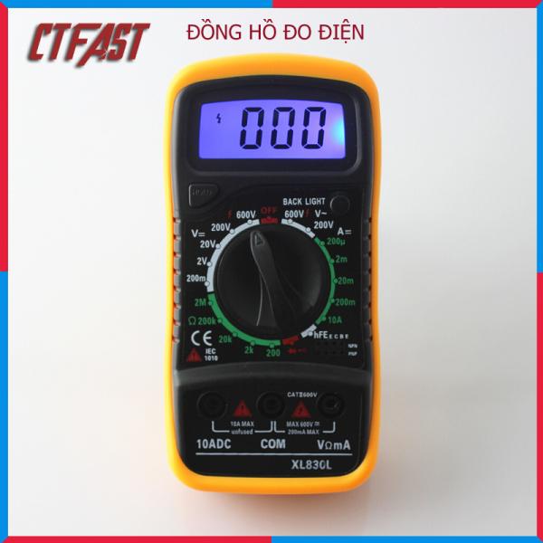 Đồng Hồ Đo Vạn Năng Điện Tử XL830L Kèm Pin 9V, Đo Điện Tự Động - Chính Hãng CTFAST