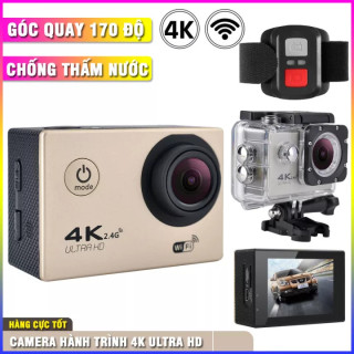 [ Tặng Thẻ 32G ] Camera Hành Trình Chống Nước 4K Ultra HD - Hỗ trợ góc quay rộng 170 độ tiêu chuẩn chống nước, chống rung. Hỗ trợ Wifi kết nối và xem lại trực tiếp hoặc trên ứng dụng điện thoại- Bảo hành 12 tháng thumbnail