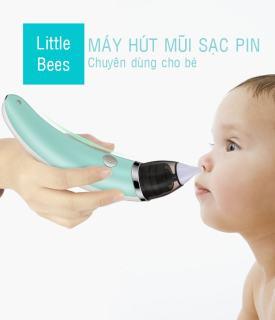 Máy Hút Mũi USA Chính Hãng - Máy hút mũi trẻ em điện tử LITTLE BEES (LB-1801) - Hút mũi trẻ sơ sinh tự động với đầu silicon siêu mềm, êm ái, an toàn thumbnail