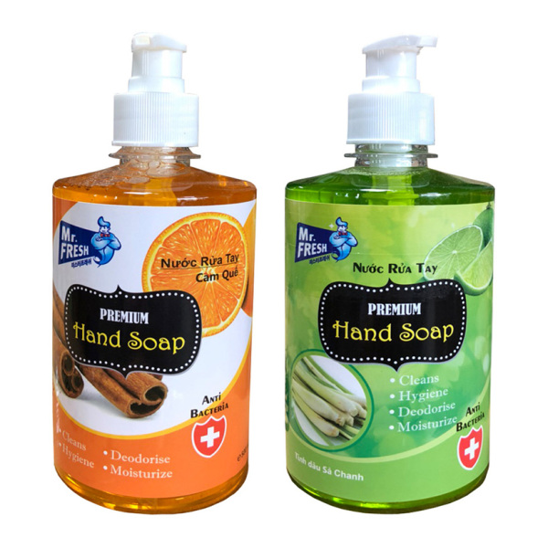 Bộ 2 chai nước rửa tay tiệt trùng Mr Fresh Hàn Quốc 500ml (Nhiều hương tùy chọn) KL456 giá rẻ