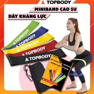 Dây miniband, dây đàn hồi kháng lực tập cơ mông đùi TOPBODY - T1 - MIBAND001 thumbnail