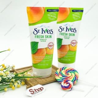 Sữa rửa mặt tẩy tế bào chết tươi mát St.Ives Mỹ chiết xuất Trái Mơ 170g thumbnail