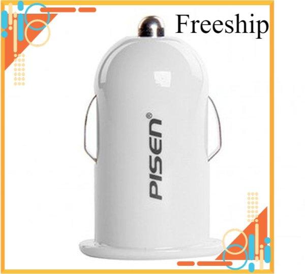 [Freeship Max] Sạc trên ô tô Pisen I Car Charger 1A (Trắng) 1000000377