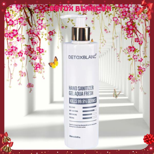 Gel rửa tay khô cao cấp 300 ml của Detox Blanc diệt khuẩn 99,99% đẩy lùi dịch bệnh
