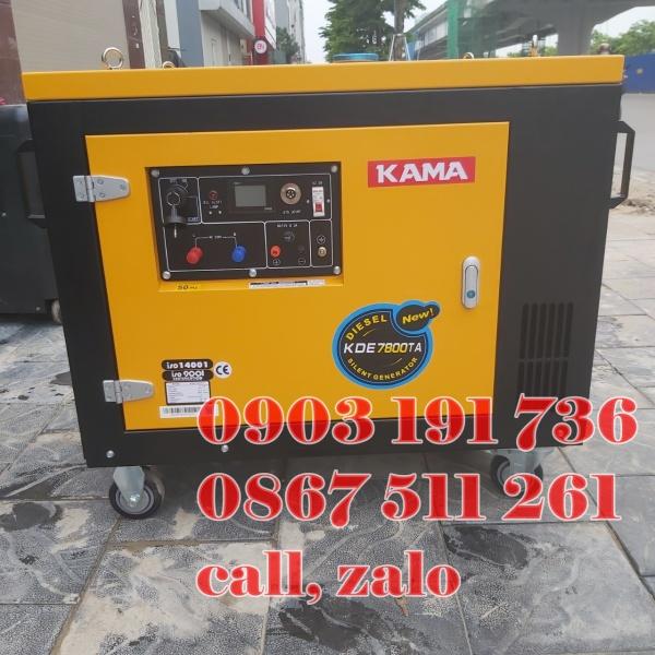 Máy phát điện Kama 7800, Máy phát điện kama 6kw ch.ính hãng tại Quảng Ninh