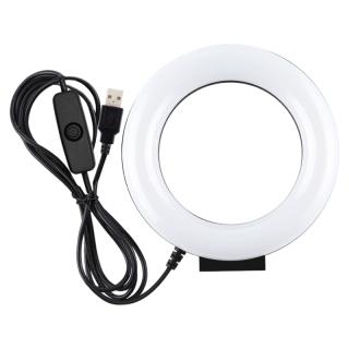 PULUZ 4.7Inch Ring Light LED Desktop Ring Lamp USB White Light for Makeup Video Live Studio Photography thumbnail