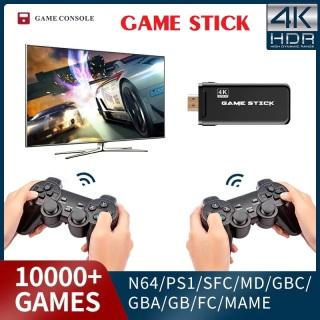 [LOẠI 10000 GAME] Máy chơi game stick 4k, Máy chơi gamer điện tử cầm tay 4 nút trên tivi, máy tính, tay cầm chơi game không dây 2 người chơi - Bảo hành 12 tháng thumbnail
