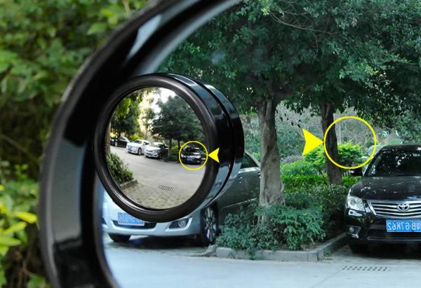 Cặp Gương cầu lồi 360 xóa điểm mù 5cm VIỀN ĐEN gắn kính chiếu hậu ô tô có viền kiếng
