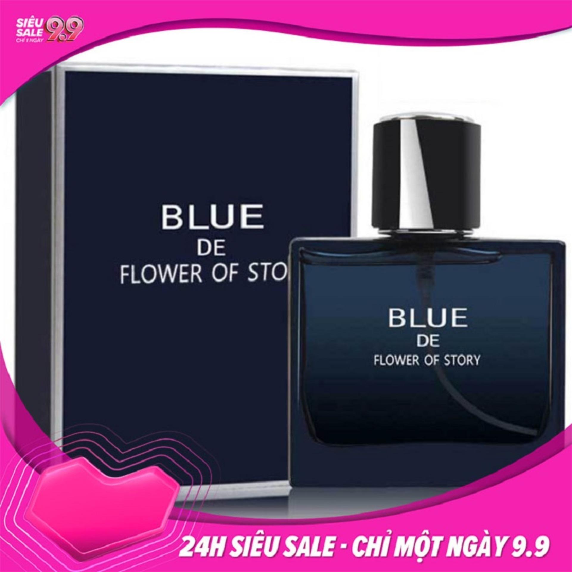 Nước Hoa Nam Blue De Flower Of Story nước hoa for men, hương thơm quyến rũ đàn ông đích thực[FUNNY TIMES] nhập khẩu