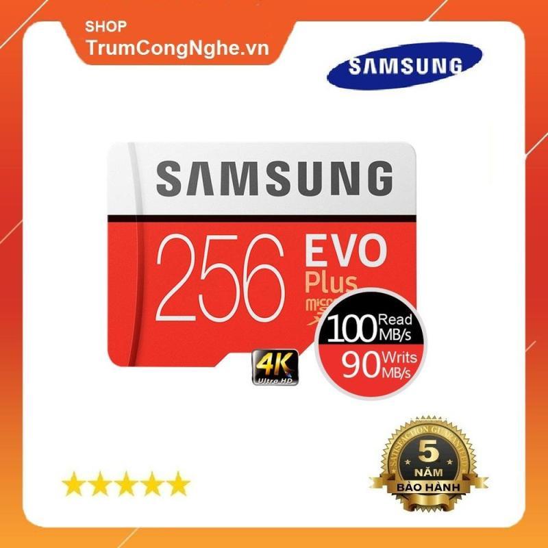 Thẻ nhớ 256GB Samsung Plus U3 Class10 4K 100Mb/s - Tốc độ Siêu Cao New Model