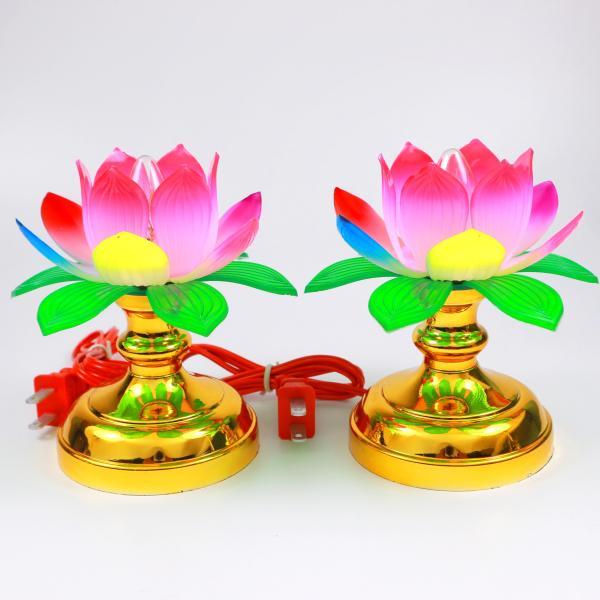 Cặp đèn thờ hoa sen rất đẹp