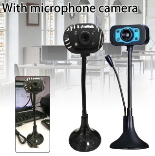 (Bảo hành 06 tháng) Webcam Chân Cao có mic dùng cho máy tính có tích hợp mic và đèn Led trợ sáng - Webcam máy tính để bàn siêu nét 5
