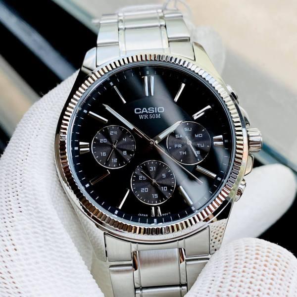Đồng hồ nam dây thép Casio MTP 1375D-1AVDF Bảo hành 1 năm, Pin trọn đời Hyma watch