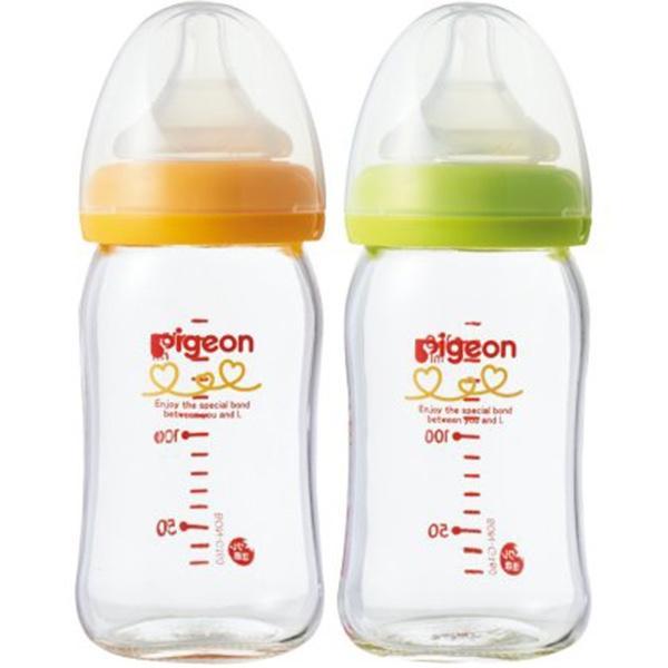 Bình Sữa Pigeon Thủy Tinh Cổ Rộng Hàng Nội Địa Nhật Loại 160ml