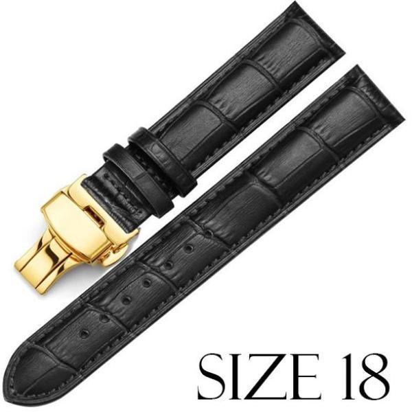 Dây da bò 2 lớp cao cấp khóa bấm không gỉ + tặng kèm dụng cụ thay dây SIZE 18/20/22 bán chạy