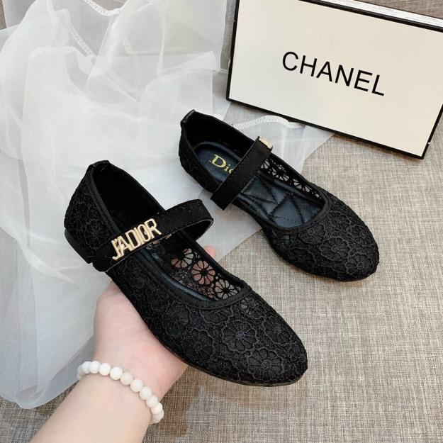[Lấy mã giảm thêm 30%] ( Xả Hàng) Giày búp bê nữ lưới ren cao cấp giá rẻ