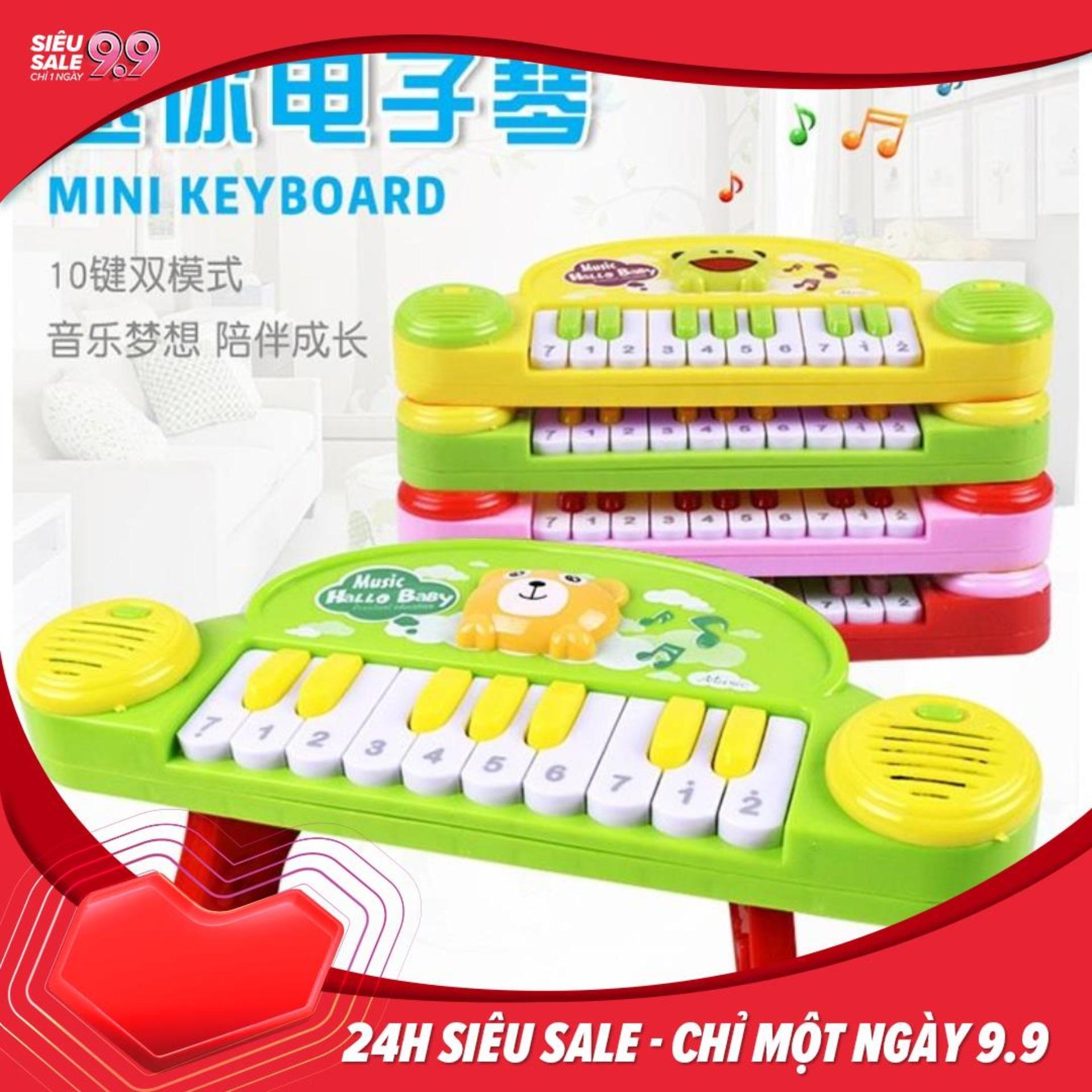 Đồ chơi đàn Piano mini cho bé có đèn và âm thanh kích thích não phát triển trí thông minh Nhật Bản