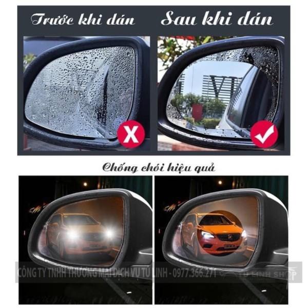 hộp 2 miếng dán kính CHỐNG NƯỚC cho ô tô, xe máy đảm bảo an toàn, sử dụng dễ dàng