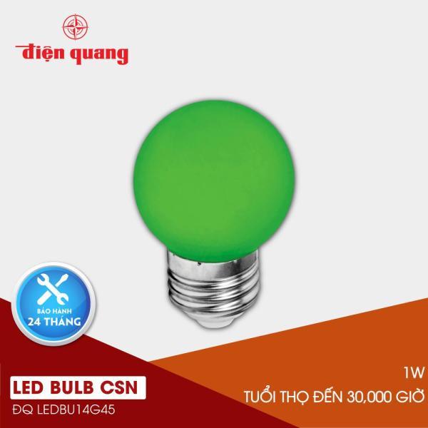 Đèn LED bulb Điện Quang ĐQ LEDBU14G45 01G (1W xanh lá)