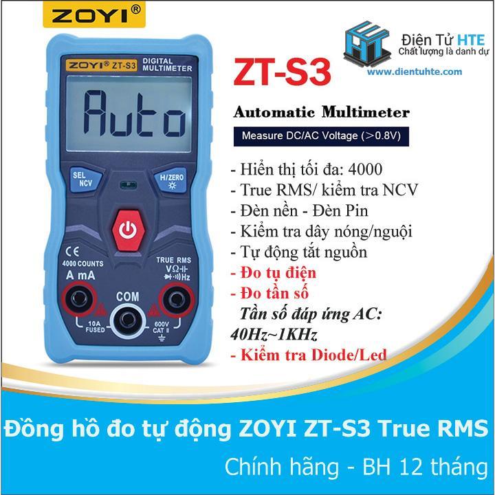 Đồng hồ đo tự động hoàn toàn ZOYI ZT-S3 - ZT-S1 version 2019