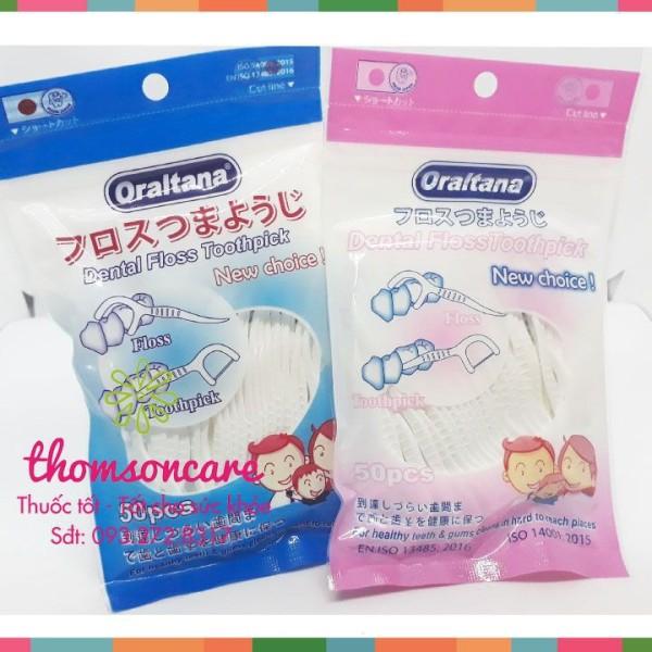 Tăm chỉ kẽ răng Oraltana - gói 50c tăm chỉ nha khoa - vệ sinh miệng chính hãng sản phẩm có nguồn gốc xuất xứ rõ rang dễ dàng sử dụng cam kết sản phẩm y như hình giá rẻ
