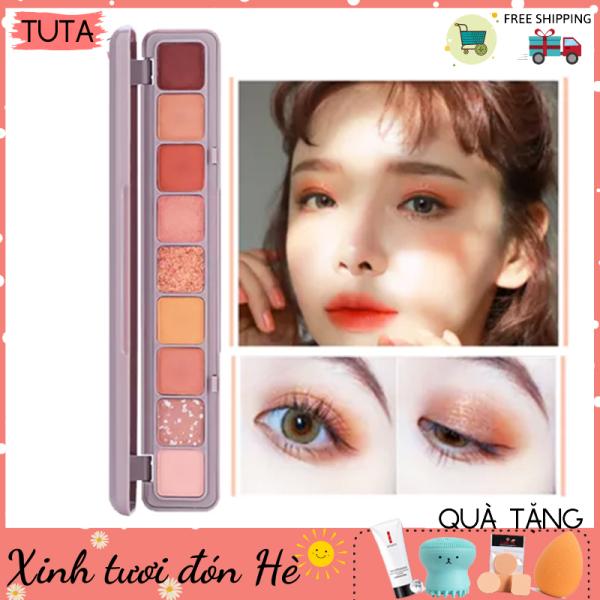 Bảng màu phấn mắt nhũ 9 ô Soft Eye Shadow trang điểm mắt thời thượng, Bảng màu mắt chính hãng DIKALU PM-11t